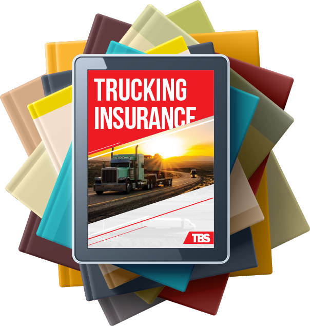 Article on tablet called Staying Trucking Insurance